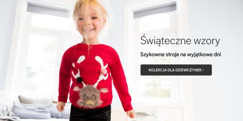 świąteczna kolekcja marki C&A dla dziewczynek