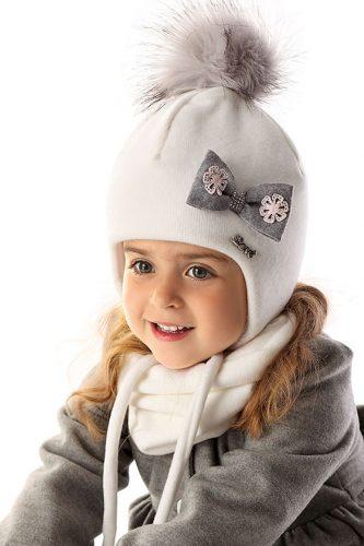 Czapka zimowa dla dziewczynki