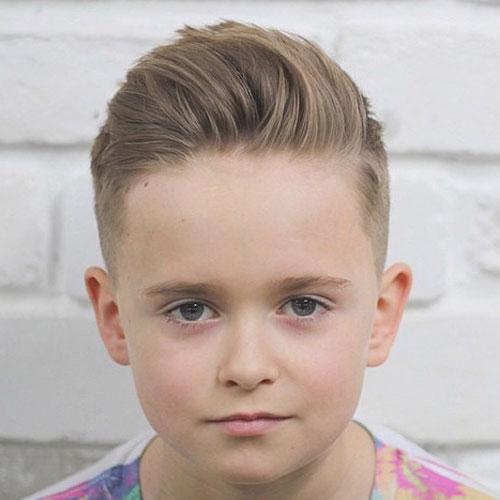 Modna fryzura dla małego chłopca 2017 2018