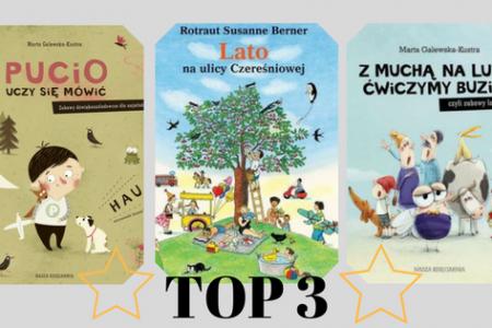 Zestawienie najpopularniejszych serii książek dla dzieci pucio, ulica czereśniowa, mucha fefe