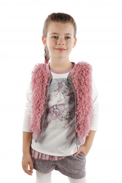 Futrzana kamizelka dla dziewczynki