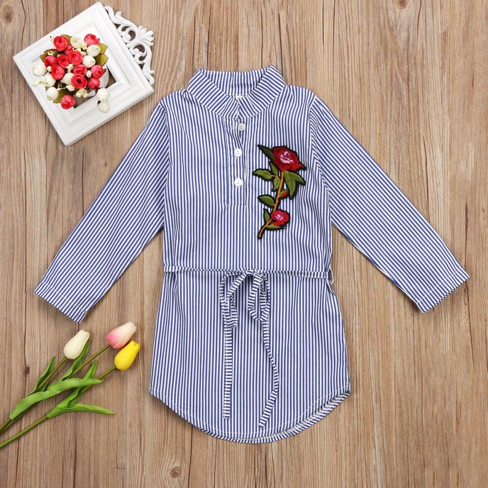 Szmizjerka sukienka koszulowa dla dziewczynki marki aliexpress