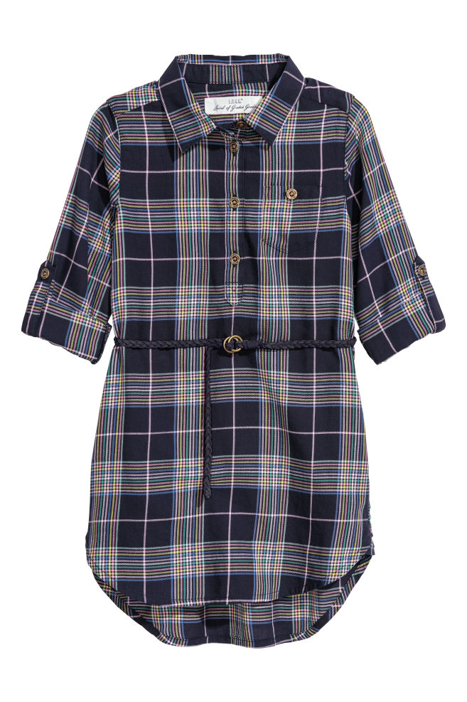 Szmizjerka sukienka koszulowa dla dziewczynki marki H&M