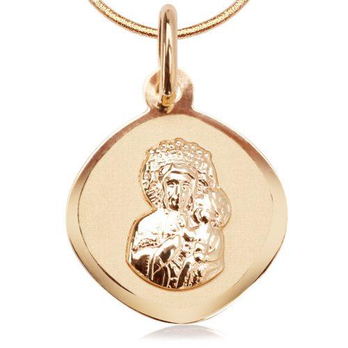 biżuteria na komunię medalik dla dziewczynki yes