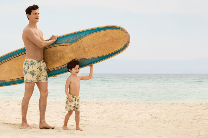 H&M – wakacyjne kąpielówki – zestaw ojciec i syn