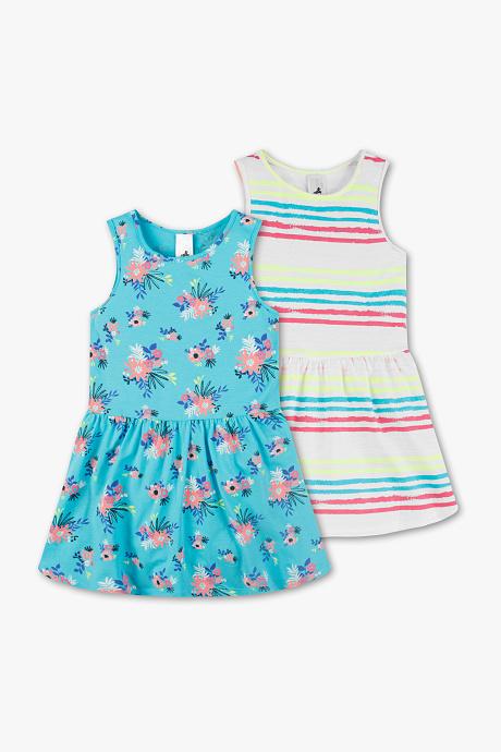 Letnie sukienki w paski w kwiaty C&A