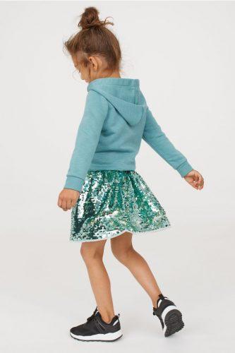 Cekinowa spódniczka miętowa H&M