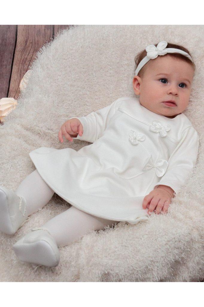 biała sukienka roczek chrzciny 5.10.15