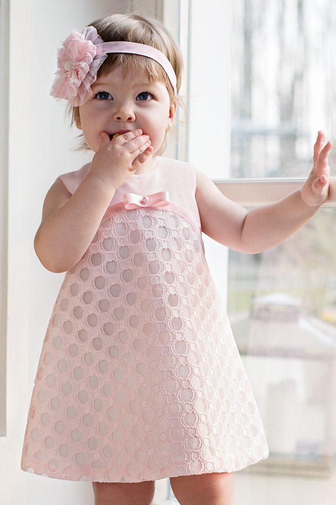 rozowa sukienka roczek chrzciny 5.10.15