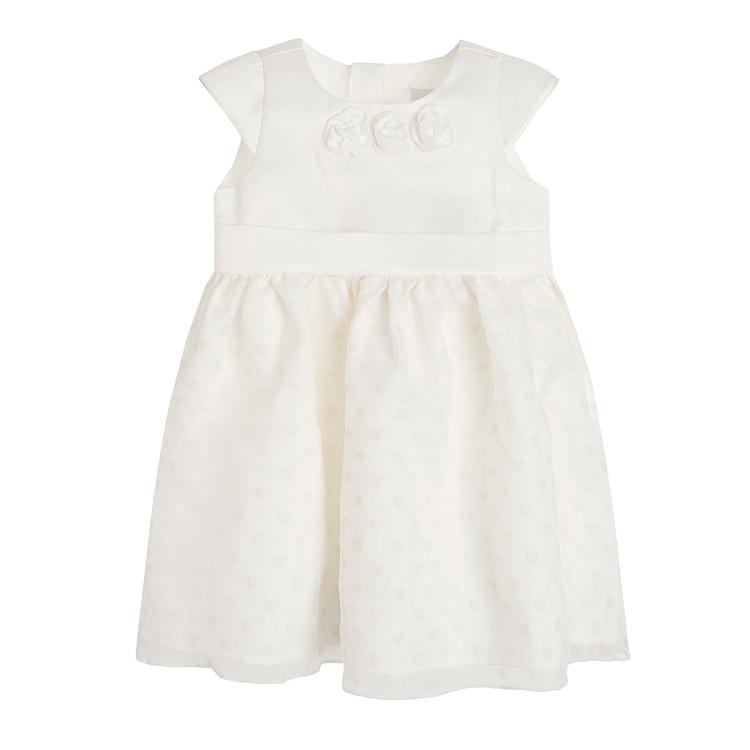 Biała sukienka princeska marki SMYK