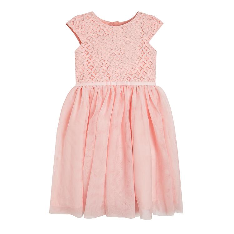 Różowa sukienka dla dziewczynki SMYK