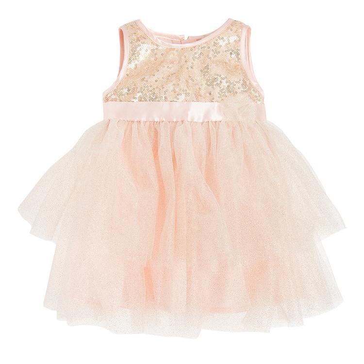 Tiulowa sukienka różowa SMYK