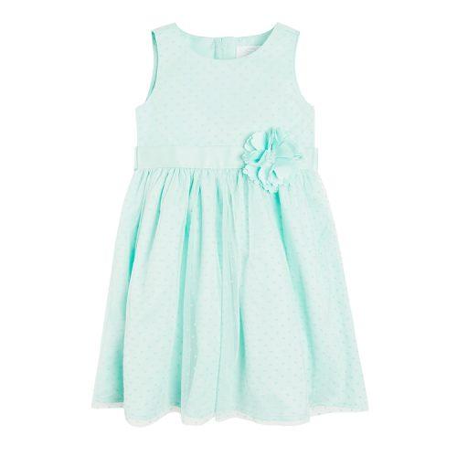 Miętowa sukienka w kropeczki marki SMYK