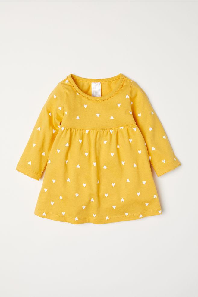 Żółta sukienka dla dziewczynki marki H&M