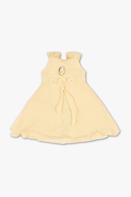 żółta sukienka dla dziewczynki marki C&A