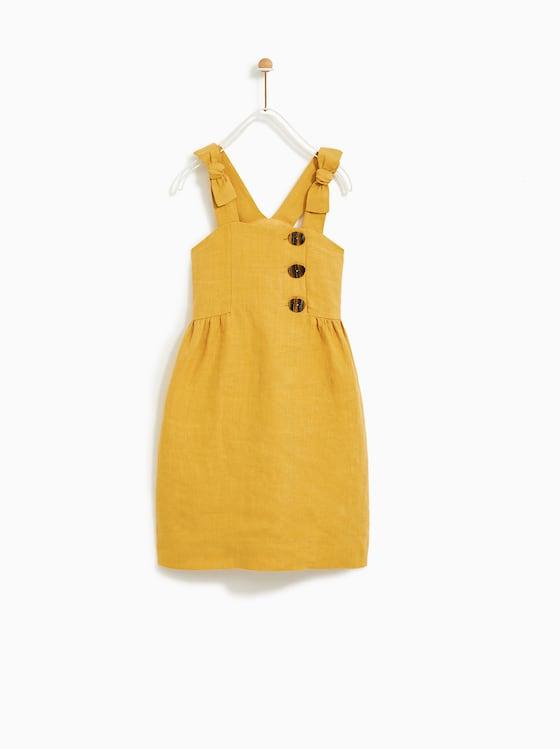 żółta sukienka dla dziewczynki marki ZARA