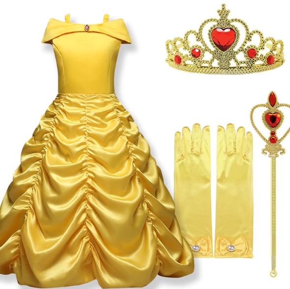 stroj na balik sukienka księżniczki bella