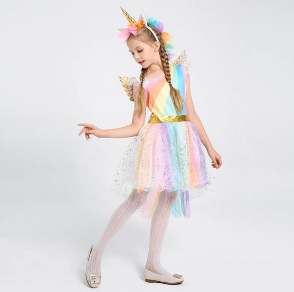 stroj na balik sukienka księżniczki jednorozec