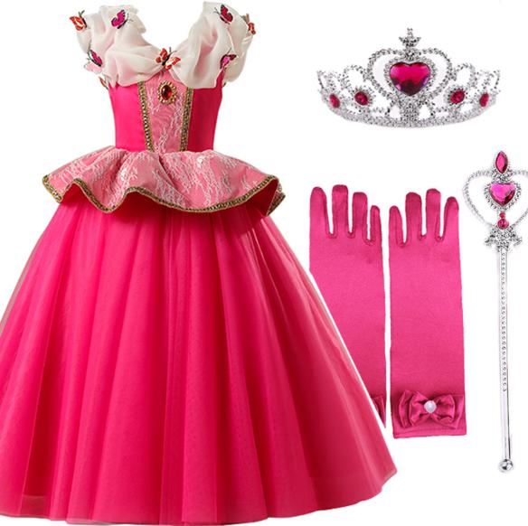 stroj na balik sukienka księżniczki aurora